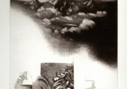 Távolság, 2002, papír, lágyalap, mezzotinto, 30x25 cm