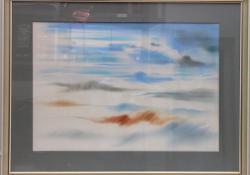 Tél, 2002, papír, akvarell, 60x80 cm