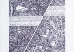 Tépett üzenet, 2007, papír, tollrajz