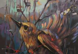 Természet-les I, 2012, vászon, olaj, 40x40 cm