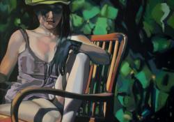 Természet, 2009, vászon, olaj, 80x80 cm