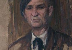 Tersánszky J. Jenő, 1953, olaj, karton, 54x44 cm