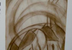 Transzcendentális párbeszéd, 1920, ceruza, papír, 22,5x13,5 cm