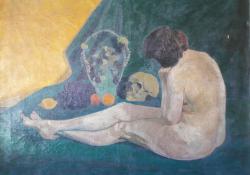Ülő női akt, 1912, olaj, vászon, 117x138,5 cm