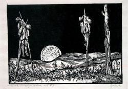 Urak bosszúja (Dózsa V.), 1964, linómetszet, 175x250 mm