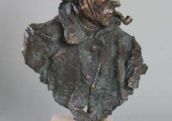 V. van Gogh, 2005, bronz, kő, 36 cm