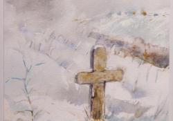 Valaki járt itt, 2008, papír, akvarell, 65x50 cm