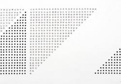 Variációk háromszögre 1, 1979, papír, tollrajz