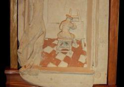 Vermeer, 2003, fehér samott, fa, 53x32 cm
