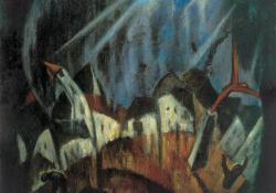 Vihar, 1922, olaj, vászon, 78x94 cm