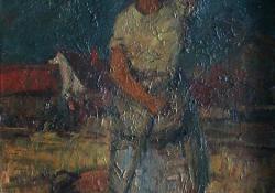 Vihar után, 1946-50, olaj, vászon, 70x50 cm