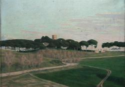 Villa del Pazzi, 1931, vászon, olaj, 54,5x69 cm