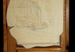 Wiliam Turner, 2003, fehér samott, fa, 53x32 cm
