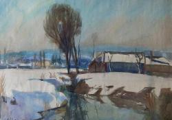Zala folyó, 1932, akvarell, papír, 49x63,5 cm