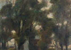 Zalai malom, 1931, olaj, farost, 49x39,5 cm