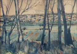 Zalaszentgróti tájkép, akvarell