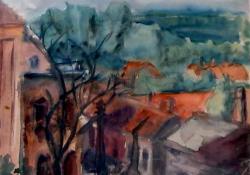 Z'egi házak, 1930-as évek, papír, akvarell