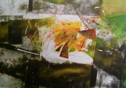 Zöld I, 1994, vegyes t, papír, 70x100 cm