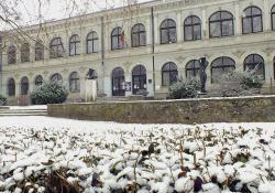 A Göcseji Múzeum hóesésben, 2015. február 09., Fotó: Horváth Lilla Éva