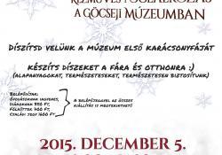 Készülj velünk a Karácsonyra! – Kézműves foglalkozás a Göcseji Múzeumban