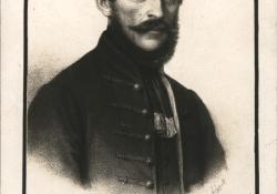 Csány László portréja.