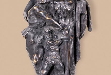 Kisfaludi Strobl Zsigmond: Az Észak szobrának kismintája, 1920, bronz, ltsz. K.76.3.152.