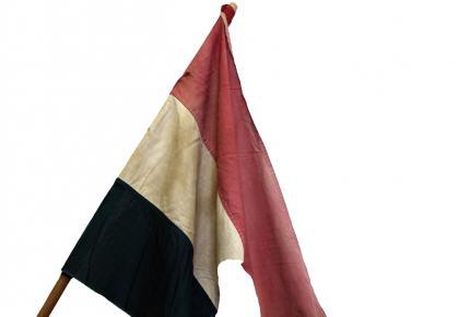 1956 forradalmi napjaiban használt lyukas zászló