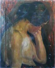 A művész feleségének félaktja, 1910 k, olaj, vászon