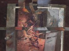 A szoba, 1984, olaj, farost, 70x94 cm