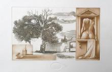 Az ismeretlen birtok, 2010, papír, rézkarc, mezzotinto, 18x30 cm