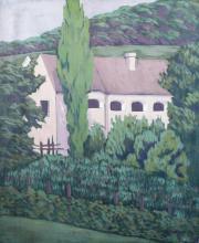 Badacsonyi Kisfaludy-ház, 1928-29, olaj, vászon, 60x50 cm