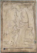 Jézus a kútnál, 1931, gipsz relief, 37x25,5 cm