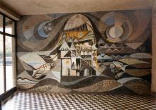 Mesevilág, 1970, mozaikfal, Nagykanizsa
