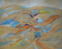 Zalai táj, 1970 k, olaj, farost, 65x80 cm